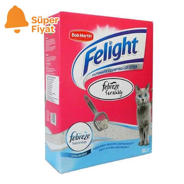 Felight Febreze Süper Beyaz Bentonit Topaklanan Kedi Kumu 8 LT