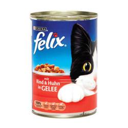 Felix - Felix Biftekli ve Tavuklu Yaş Kedi Maması 400 GR