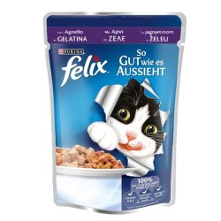 Felix - Felix Kuzu Etli Yaş Kedi Maması 100 GR