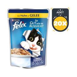 Felix - Felix Tavuklu Yaş Kedi Maması 100 GR * 20 ADET