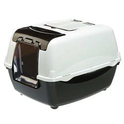 Ferplast - Ferplast Bella Cabrio Filtreli Kedi Tuvaleti - Siyah