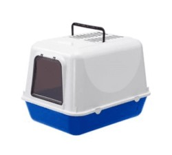 Ferplast - Ferplast Clear Cat 20 Kapalı Mavi Kedi Tuvaleti 50*37*35 CM