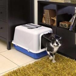 Ferplast Clear Cat 20 Kapalı Siyah Kedi Tuvaleti 50*37*35 CM - Thumbnail