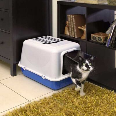 Ferplast Clear Cat 20 Kapalı Siyah Kedi Tuvaleti 50*37*35 CM