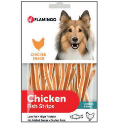 Flamingo - Flamingo Chicken Fish Strips Tavuk ve Balık Etli Glutensiz Köpek Ödül Çubukları 85 Gr