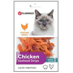 Flamingo - Flamingo Chicken Seafood Tavuk ve Balık Etli Snack Kedi Ödülü 85 Gr