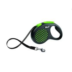 Flexi - Flexi Design Yeşil Otomatik Gezdirme Şerit Tasma (S)