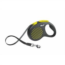 Flexi - Flexi Design Sarı Otomatik Gezdirme Şerit Tasma (M)