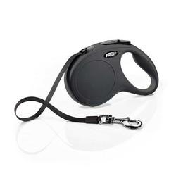 Flexi - Flexi New Classic Otomatik Siyah Şerit Gezdirme Tasması 3 Metre - X Small