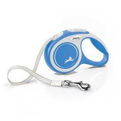 Flexi New Comfort Beyaz Şerit Köpek Gezdirme Tasması S - 5M - Thumbnail