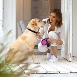 Flexi New Comfort Beyaz Şerit Köpek Gezdirme Tasması XS - 3M - Thumbnail