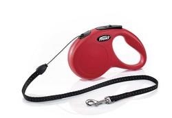 Flexi - Flexi New Classic İp Şeklinde Kırmızı Otomatik Köpek Tasması 8M