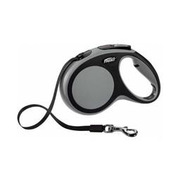 Flexi - Flexi New Comfort Şerit Köpek Tasması Gri 5M