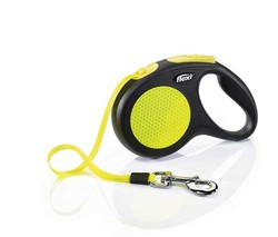 Flexi - Flexi New Neon Sarı Otomatik Şerit Gezdirme Tasması 5 Metre
