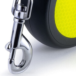 Flexi New Neon Otomatik Turuncu Şerit Gezdirme Medium 5 Mt - Thumbnail