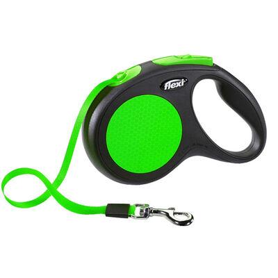 Flexi New Neon Otomatik Yeşil Şerit Gezdirme Large 5 Mt