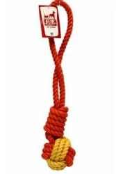 Flip - Flip Köpek Diş İpi Sarı Kırmızı 300 GR 40 CM