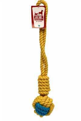 Flip Köpek Diş İpi Sarı Lacivert 300 GR 40 CM