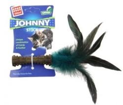 Flip - GiGwi Catnipli Doğal Tüylü Mavi Kedi Oyuncağı 22 Cm
