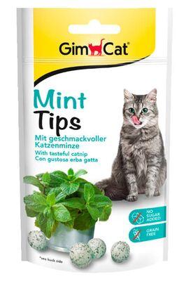 GimCat Mint Tips Naneli Kedi Ödül Tableti 40 GR