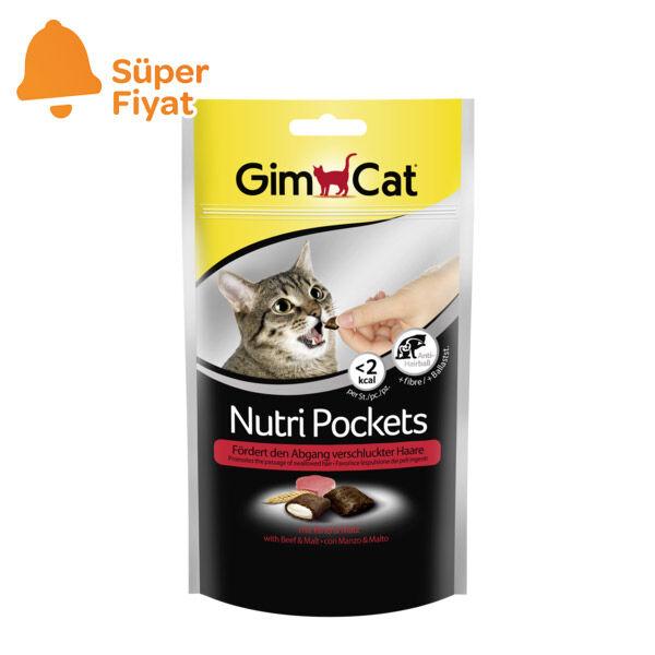 Gimcat Nutripockets Kedi Ödülü Biftek Malt 60 Gr