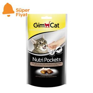 Gimcat Nutripockets Kedi Ödülü Tavuk Biotin 60 GR - Thumbnail