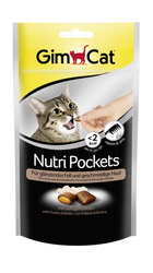 Gimcat - Gimcat Nutripockets Kedi Ödülü Tavuk Biotin 60 GR