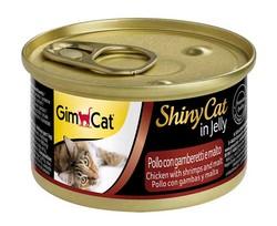 Gimcat - Gimcat ShinyCat Tavuk ve Karides Malt Kedi Konservesi 70 GR