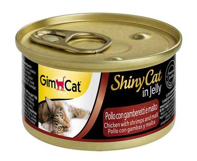 Gimcat ShinyCat Tavuk ve Karides Malt Kedi Konservesi 70 GR