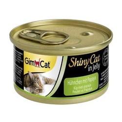 Gimcat - Gimcat ShinyCat Tavuk ve Papayalı Kedi Konservesi 70 GR