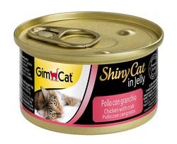 Gimcat - Gimcat ShinyCat Tavuk ve Yengeçli Kedi Konservesi 70 GR