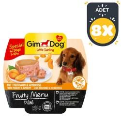 Gimdog - Gimdog Hindi Ve Kayısı Ezme Köpek Konservesi 100 GR * 8 Adet