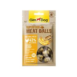 Gimdog - GimDog MeatBalls Tavuklu Muzlu ve Susamlı Köpek Ödülü 70gr