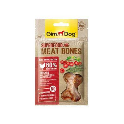 Gimdog MeatBones Tavuk Kızılcıklı ve Biberiyeli Köpek Ödül Maması 70gr