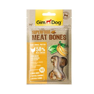 GimDog MeatBones Tavuk Muz Kerevizli Köpek Ödülü 70 gr