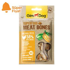 GimDog MeatBones Tavuk Muz Kerevizli Köpek Ödülü 70 gr - Thumbnail