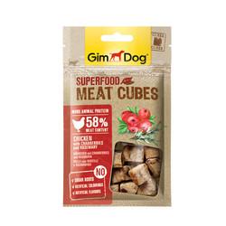 Gimdog - GimDog MeatCubes Kızılcıklı ve Biberiyeli Tavuk Köpek Ödülü 40gr