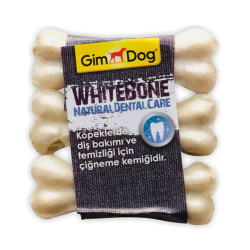 Gimdog - Gimdog Mordimi Beyaz Press Köpek Ödül Kemiği 3.5 CM 3 Lü
