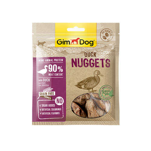 GimDog Tahılsız Ördekli Nuggets Köpek Ödülü 55 gr