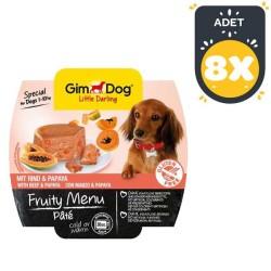Gimdog - Gimdog Sığır Etli Ve Papayalı Ezme Köpek Konservesi 100 GR * 8 ADET