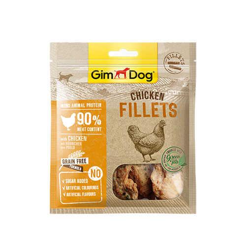 GimDog Tahılsız Fileto Tavuk Köpek Ödülü 60 GR + 60 GR