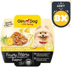 Gimdog - Gimdog Tuna Balıklı Ve Ananaslı Ezme Köpek Konservesi 100 GR * 8 Adet