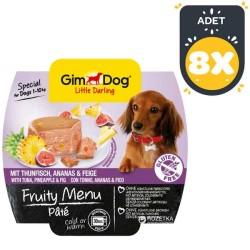 Gimdog - Gimdog Tuna Balıklı Ve İncirli Ezme Köpek Konservesi 100 Gr * 8 Adet