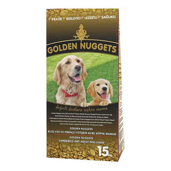 Golden Nuggets Kuzu Etli Köpek Maması 15 KG