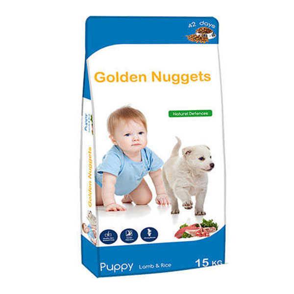 Golden Nuggets Kuzu Etli Yavru Köpek Maması 15 KG