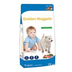 Luis - Golden Nuggets Kuzu Etli Yavru Köpek Maması 15 KG