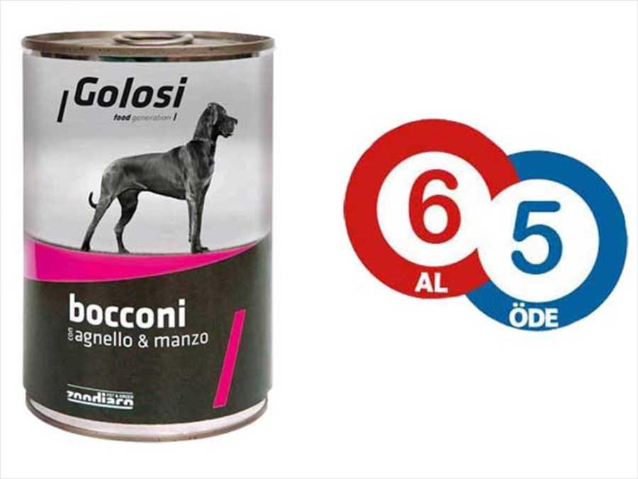 Golosi Kuzu Etli ve Sığır Etli Köpek Konservesi 400 GR * 6 Adet