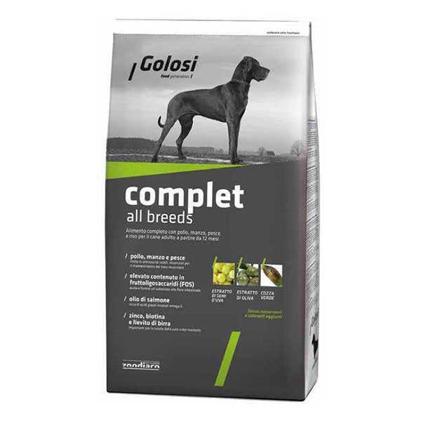 Golosi Complet Sığır-Balık-Tavuk Bütün Irklara Özel Köpek Maması 12 KG