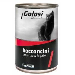 Golosi - Golosi Sığır Etli ve Ciğerli Kedi Konservesi 400 GR