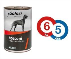 Golosi - Golosi Sığır Etli ve Dana Etli Köpek Konservesi * 6 Adet